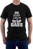 Design T Shirts Casual Cool Keep Calm And Drop Bass T Shirt Dj Club Party Rave