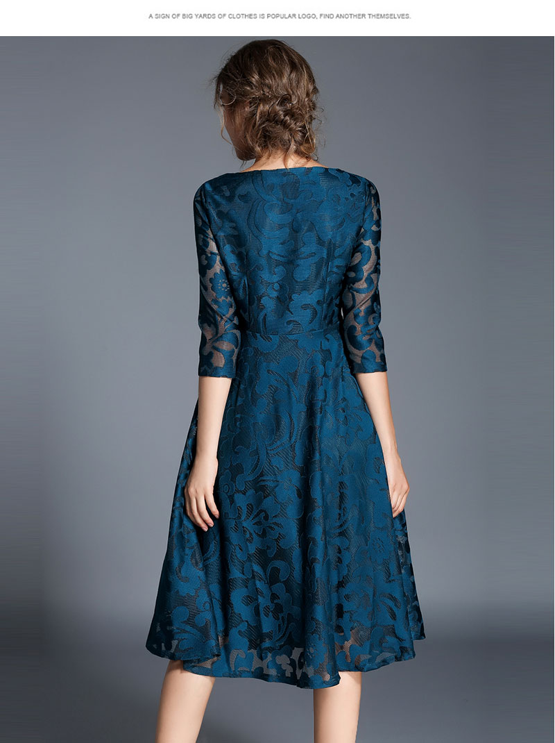 Borisovich New 18 Spring Fashion England Style Luxury Elegant Slim Ladies Party Dress Women Casual Lace Dresses Vestidos M107 15