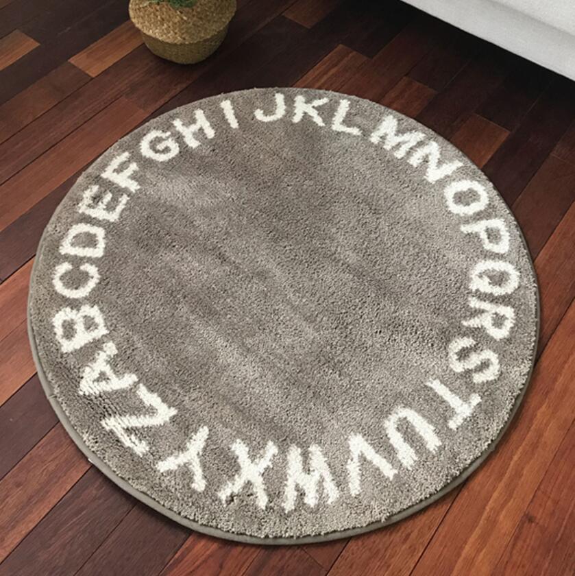 Style nordique 26 lettres jouer jeu tapis décor couverture moderne chambre fond tapis enfant enfants cadeau rond sont tapis décor à la maison