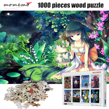 MOMEMO Cartoon Characters 1000 Pieces Puzzle Wooden High Definition Painting Jigsaw Adult Decompression Puzzles Toys Gift