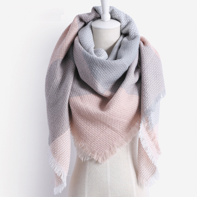 Chaude De Mode D hiver Carré Écharpe Femmes Oversize Couvertures De Luxe  marque Châle Cachemire ea79c4ed024