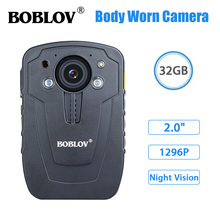 цена на Boblov New Updated Body Camera HD31-D Ambarella A7 32GB HD1080P Mini Worn Police Camare Lapel Video Recorder DVR IR Night Vision
