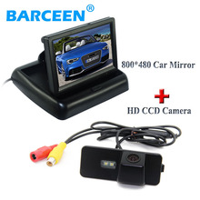 4.3 «автомобиля экрана монитора hd 800*480 + авто резерв камера для Volkswagen VW Magotan PASSAT CC/Golf 5/POLO хэтчбек/Jetta