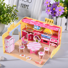 3D Stereoscopic Puzzles Sweet Simulation Kitchen Puzzles Handicraft Toys Jigsaw Kids Early Education Toy