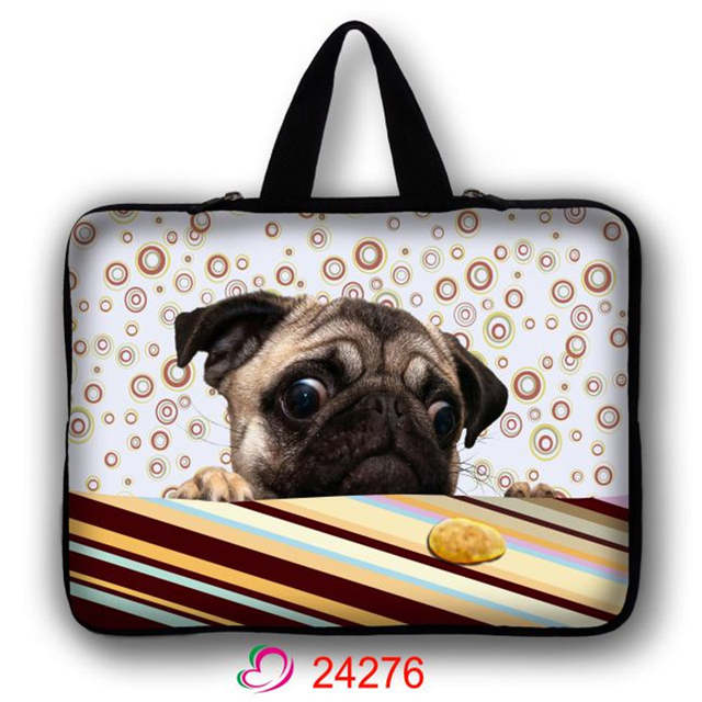 76bf39589bd5 US $8.69 25% OFF|Cute dog Notebook Bag Smart Cover For ipad MacBook Laptop  Sleeve Case 10'' 13'' 15'' 17'' 13.3