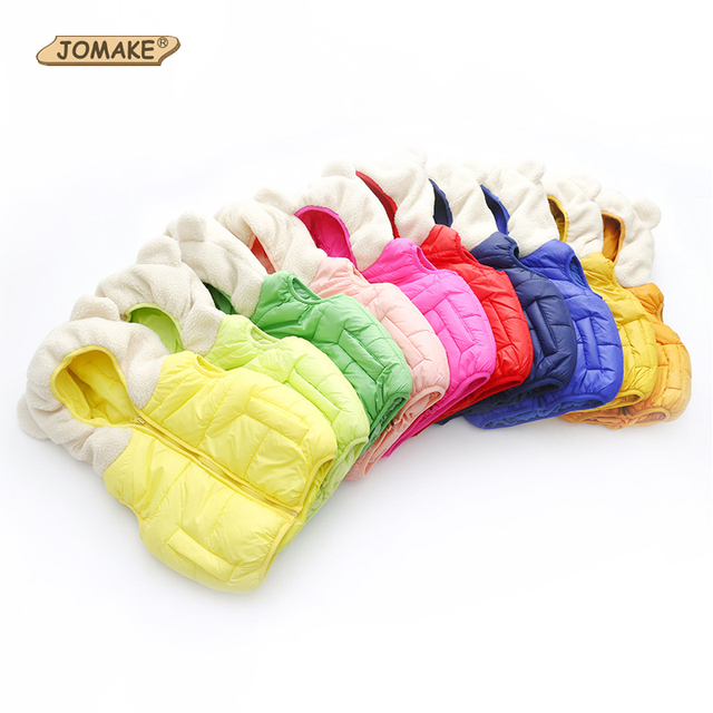 Retail Baby Outerwear Waistcoats Boys/Girls Cute Bear Ears Bread Vest Kids Hooded Coat Fashion New Children's Clothing 5 Colors