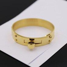 TYME fashion jewelry Stainless Steel gold love bracelet punk silver cuff h bracelet &bangle buckle bracelets for women gift