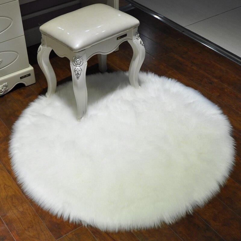 Lit de tapis en peluche salon fenêtre antidérapant tableau propagation chambre maison belle Nordique imitation laine tapis