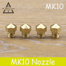 Venda quente! 1 pcs 3D printer MK10 M7 Cobre Latão Bico 0.2mm/0.3mm/0.4mm/0.5mm para 1.75mm para Filament Makerbot Reprap 2 Peças