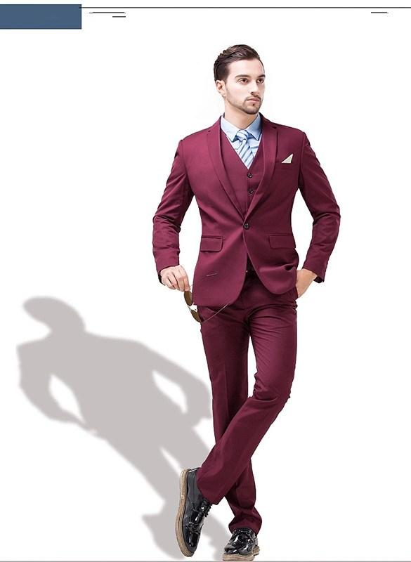 High Quality Burgundy Prom Suit-Buy Cheap Burgundy Prom Suit lots