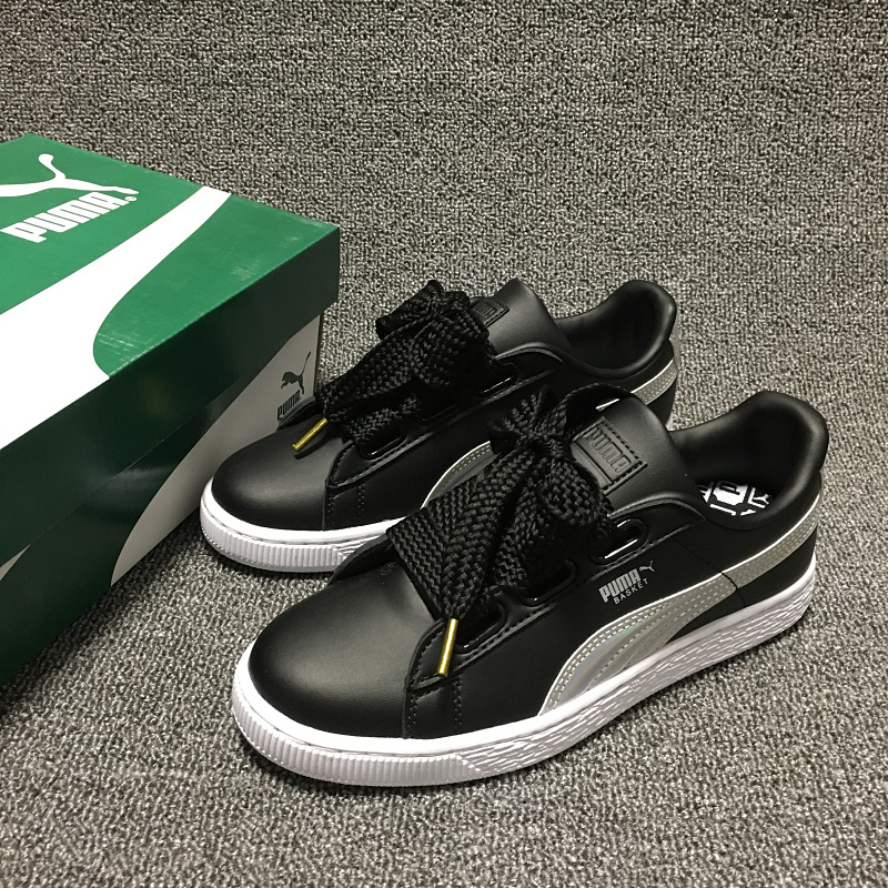 2018 Free shipping PUMA Basket Heart Patent Women s Sneakers Suede Satin Badminton  Shoes size 36- ee1a134fe889