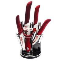 XYJ Brand Kitchen Knife Stand Good Quality 4pcs Ceramic Knife 3 Inch 4 Inch 5 Inch