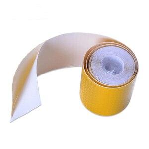 Image 4 - Auto Auto Stickers 3M * 5 Cm Decal Waarschuwing Tape Reflecterende Strips Auto Styling Lijm Honingraat Veiligheid Mark auto Veiligheid Producten