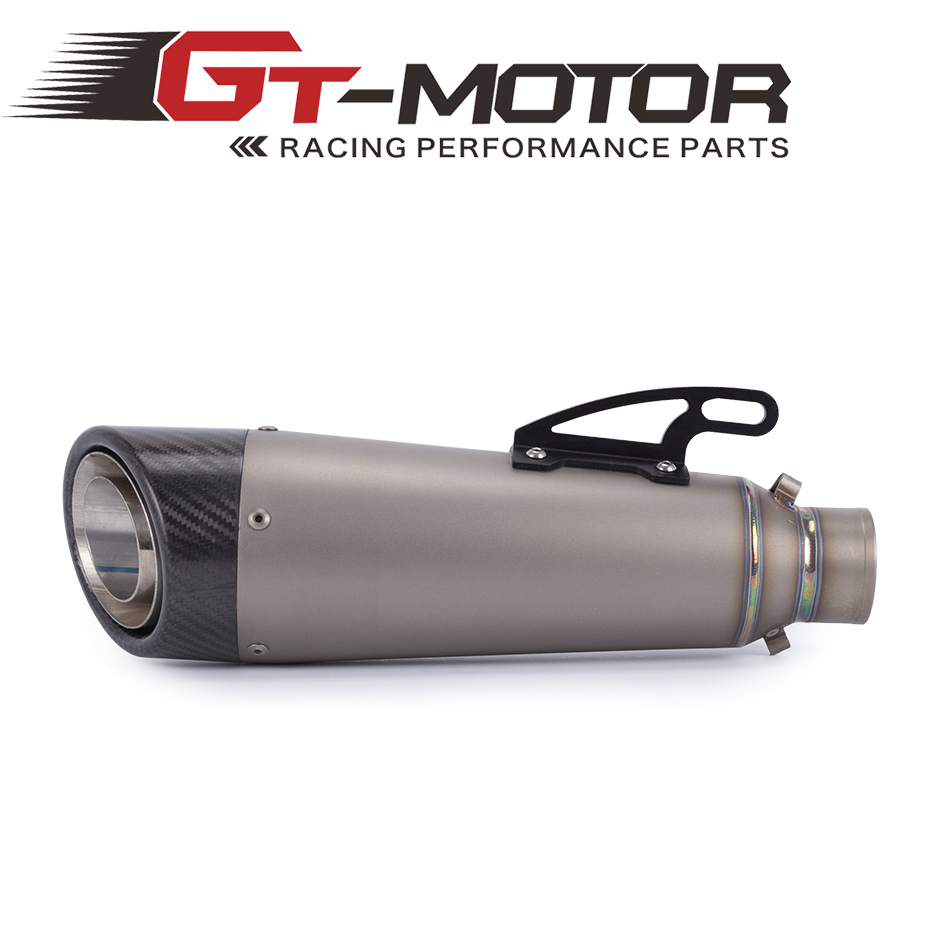 GT Motor-FREE SHIPPING Titanium Alloy Motorcycle Exhaust Motorbike carbon fiber Muffler Exhaust Escape for KAWASAKI