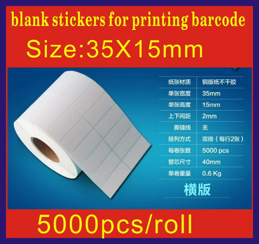 5000pcs Size35mm X15 Mm Coated Paper Adhesive Blank Sticker Fujifilm Instax Wide 300 2 Pack Polos Barcode Printing Label Free Ship Hot Sell