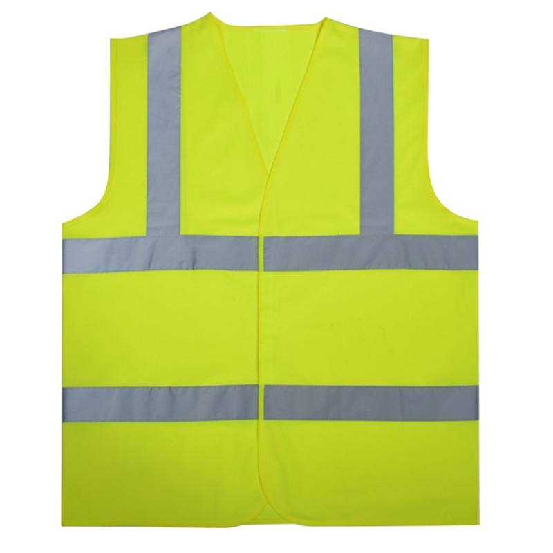 Men's Unisex wholesale EN471 reflective safety vest hi vis yellow safety waistcoat gilet free shipping