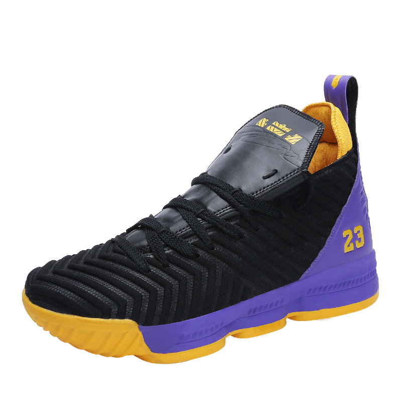 New High Top Lace Up Lebron James 16 Basketball Shoes Cushioning Shockproof Couple Georgetown Athletic Outdoor Sports Shoes
