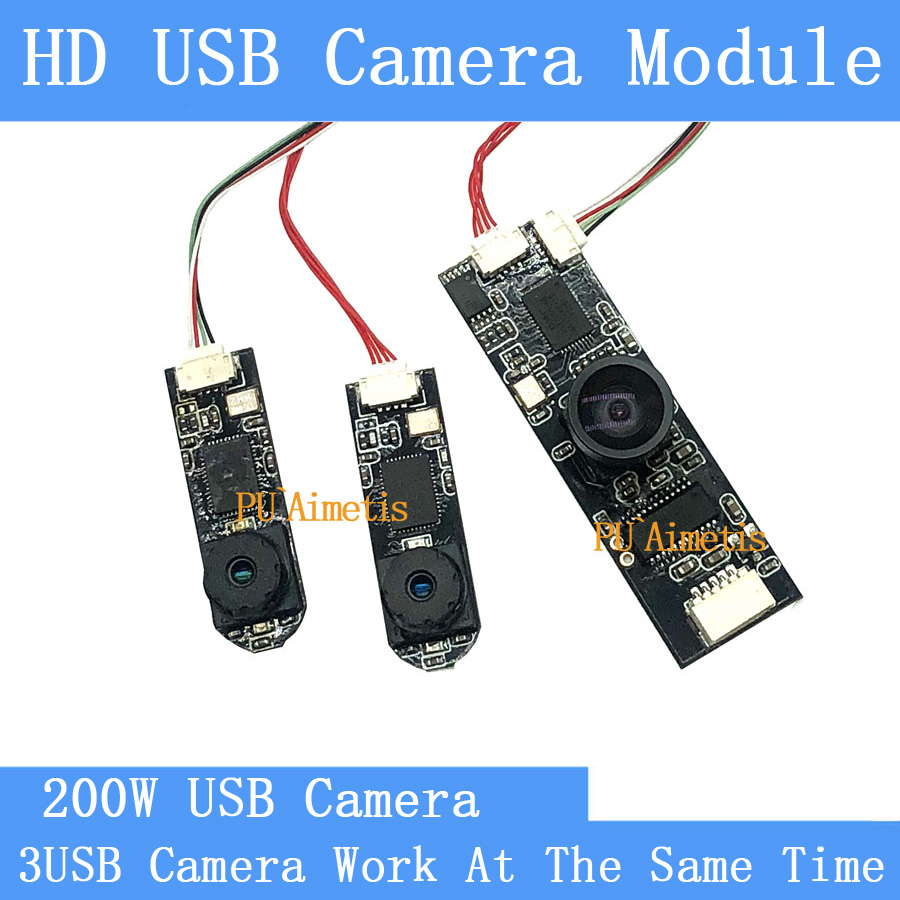 PU Aimetis Wide angle Video Surveillance Camera HD 2MP Split display three images simultaneously USB camera