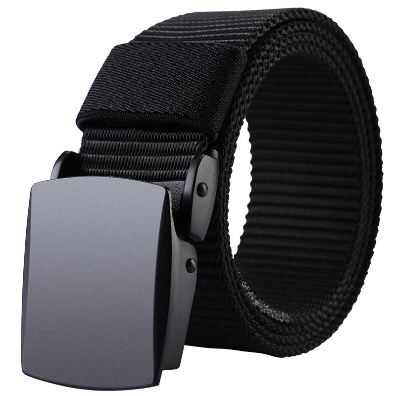 MILUOTA Military Tactical   Belt   Men Nylon   Belt   Outdoor Metal Automatic Buckle Canvas   Belts   for Men Length 43