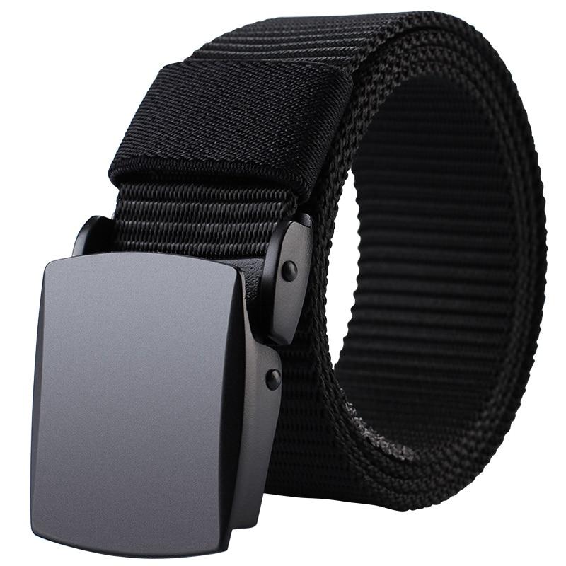 MILUOTA Military Tactical   Belt   Men Nylon   Belt   Outdoor Metal Automatic Buckle Canvas   Belts   for Men Length 43