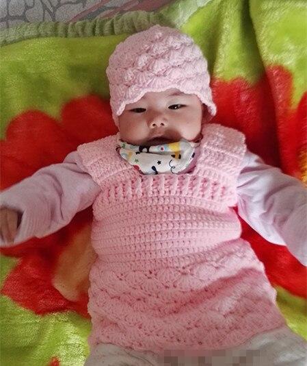 5a69023fe4c97 Crochet bebê recém-nascido gorro e conjunto de vestido. Adereços  fotografia. chapéu da