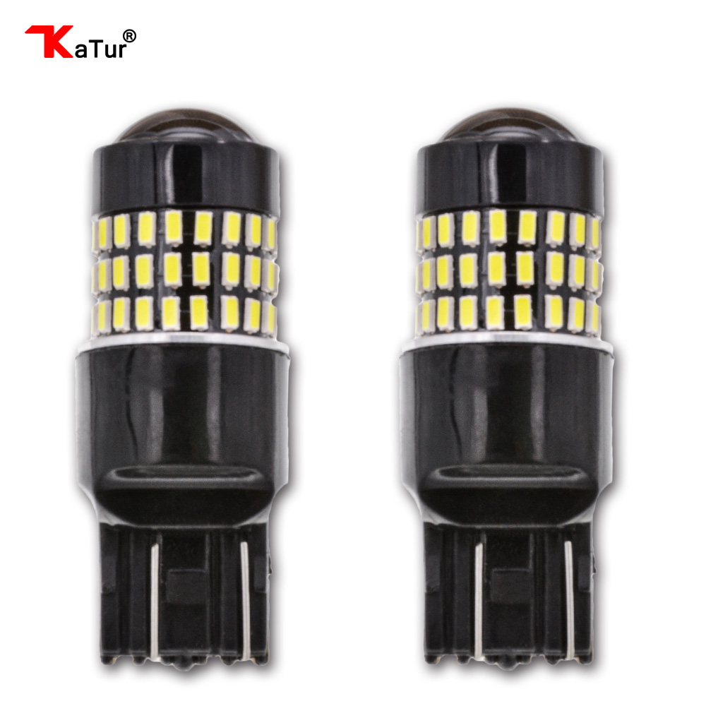 Katur 2pcs T20 7443 Led Bulb Double Contact Brake Stop Lights DRL 900 Lumens 3014 78 SMD Lens Led Car Lights Red/White/Yellow