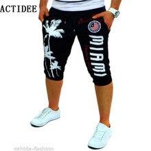 Шорты с принтом кокосовых деревьев мужские повседневные штаны модные шорты Большие размеры 36 38 40 мужские короткие мужские брюки повседневные Капри 5z