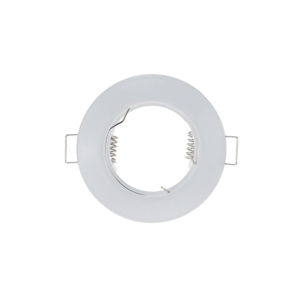 10pcs/Lot 3inch Retrofit Gimbal Kits Round Ceiling Frame MR16 GU5.3 LED Spot Light Fixed Halogen Bulb GU10 Fitting White