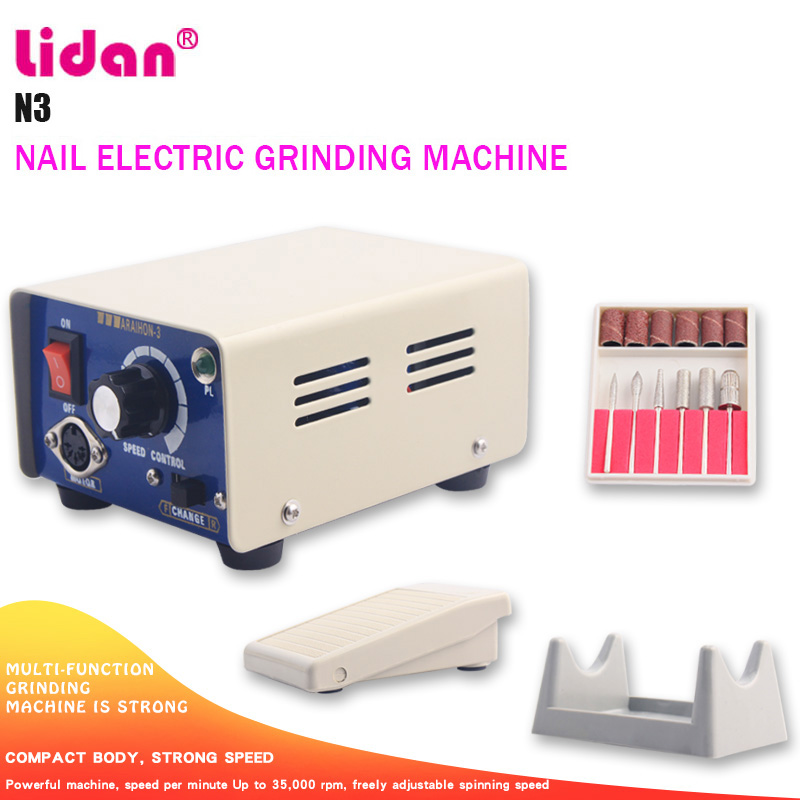 LIDAN N3 Real Milling Cutter for Manicure Machine 35000 Min Electric Manicure Drills Support Pedal Mode Positive ReversalLIDAN N3 Real Milling Cutter for Manicure Machine 35000 Min Electric Manicure Drills Support Pedal Mode Positive Reversal