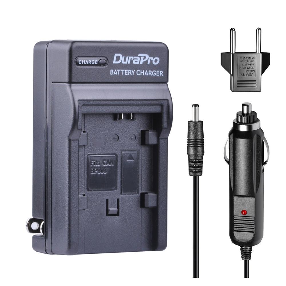 1 pc Chargeur De Voiture + UE plug pour Canon BP-828 BP-808 BP 828 BP 808 HFM300 HFM30 HFG30 HFG10 HFM40 HFM400 HFS30 HF20 HG20 Batterie