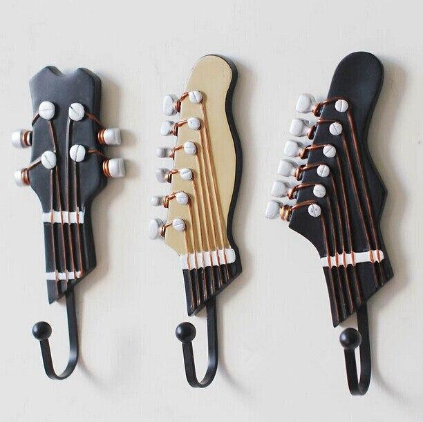 regin coat hooks cloths wallhook clothes hook home decoration guitar wall hook wall key hanger decorative coat hooks 3pcslot - Decorative Coat Hooks
