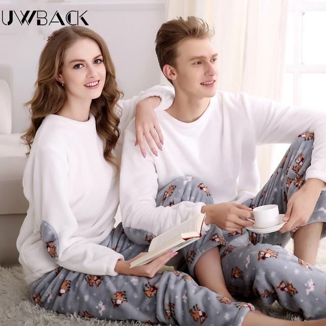 Pijimas uwback 2017 nueva invierno de franela para hombre más tamaño xxxl cintura elástica para hombres pijamas ropa de dormir grueso de coral polar ocasional caa241