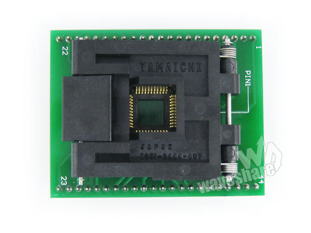 Waveshare QFP44 TO DIP44 (A) Yamaichi IC Programmer Adapter Test Socket 0.8mm Pitch for QFP44/TQFP44/FQFP44/PQFP44 Package