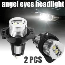 2pcs 12V 10W White Angel Eyes Headlight For BMW E90 E91 3 Series Ultra-Bright Angel Eyes LED Light Headlight Lamp недорого