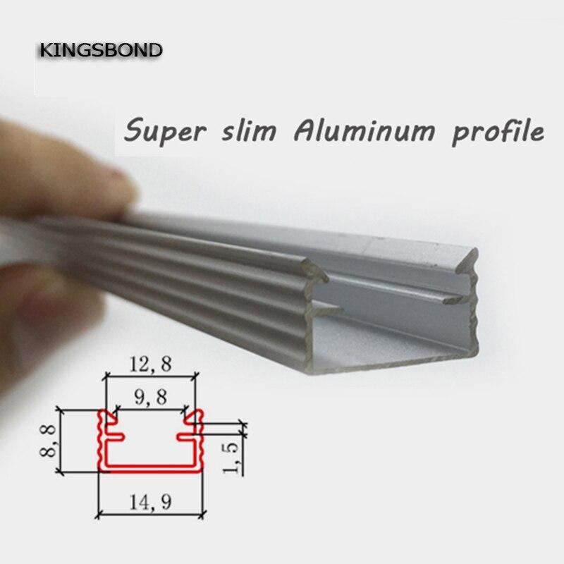 U type Slim LED aluminum profile for led bar light wardrobe light counter light sales promotion aluminum led strip housing