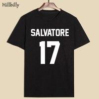 Hillbilly Hot SALVATORE 17 Womens T Shirts Summer 2017 Letter Printing Black Short Sleeve Fashion Cotton