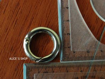 3/4 inch Bag parts, Bag hardware accessories Handbag solid Ring Buckle belt parts Metal ring Spring Ring