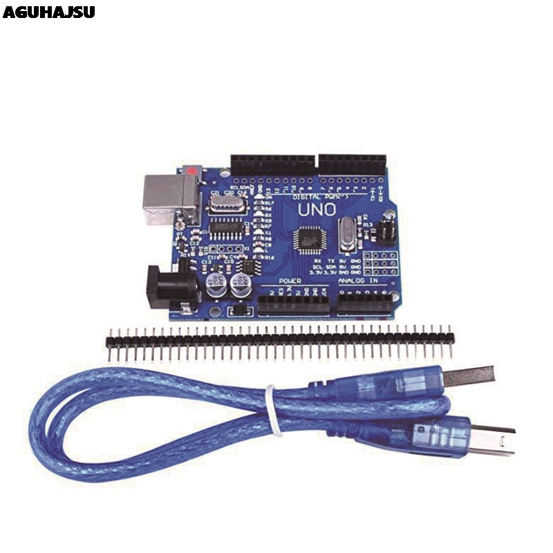 UNO R3 Development Board ATmega328P CH340 CH340G For Arduino UNO R3 With Straight Pin Header-in Integrated Circuits from Electronic Components & Supplies