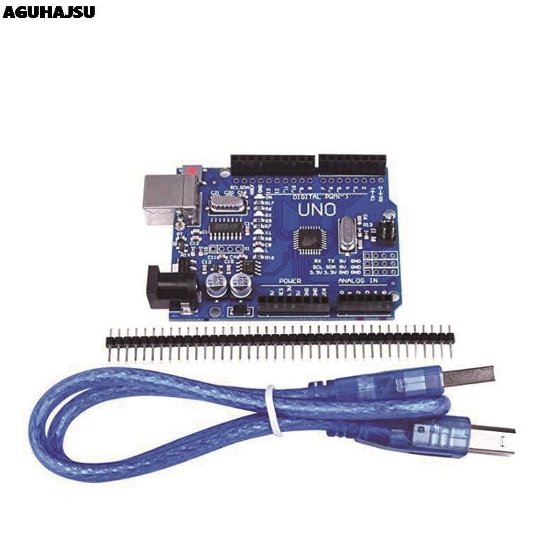 Макетная плата UNO R3 ATmega328P CH340 CH340G для Arduino UNO R3 с прямым штырьком