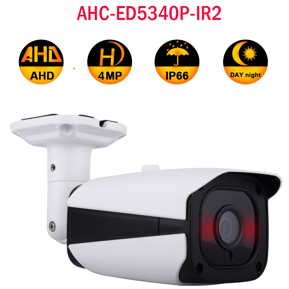 Outdoor AHD TVI CVI CCTV 4MP HD Camera AHC-ED5340P-IR2 Night Vision WDR IP66 IR 30m Motion Detection Surveillance Bullet Camera ccdcam 4in1 ahd cvi tvi cvbs 2mp bullet cctv ptz camera 1080p 4x 10x optical zoom outdoor weatherproof night vision ir 30m