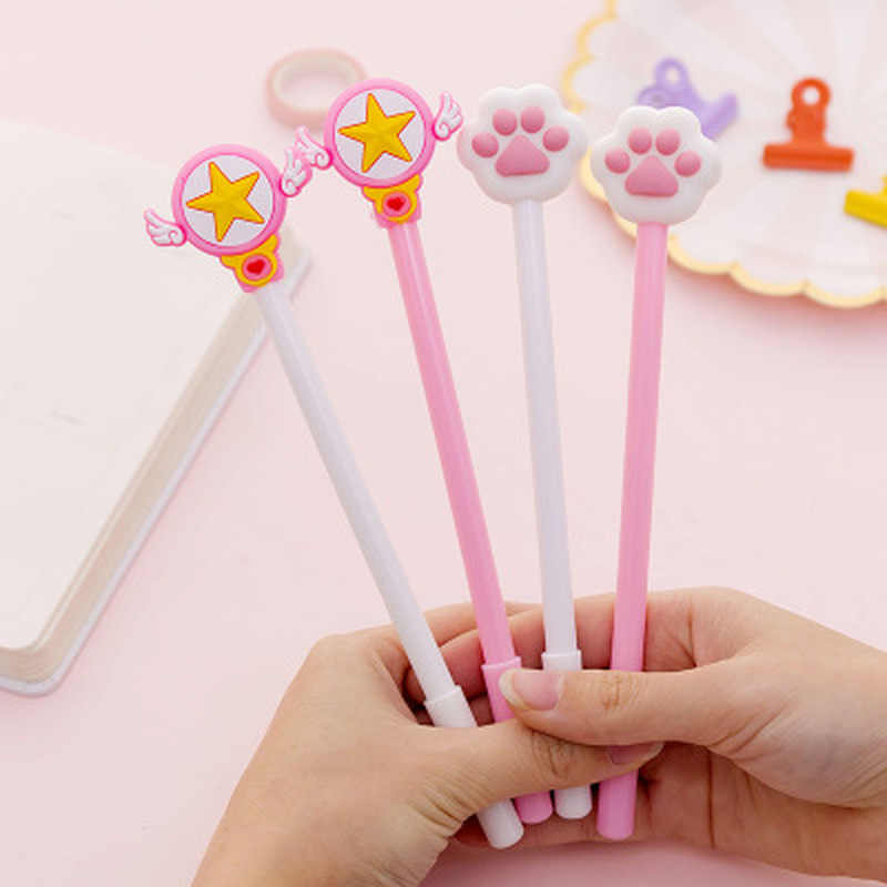 1PC 0.5mm Cute Creative Cat claw magic wand Gel Pens Signature Pen School Office Stationery Supply Promotional Gift Kawaii