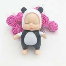 lol dolls Cartoon Pom Pom Sleeping Baby Plush Doll Toys Rabbit Fur Ball Toys Fluffy Girls Bag Pandent Decoration Toys Gift(China)