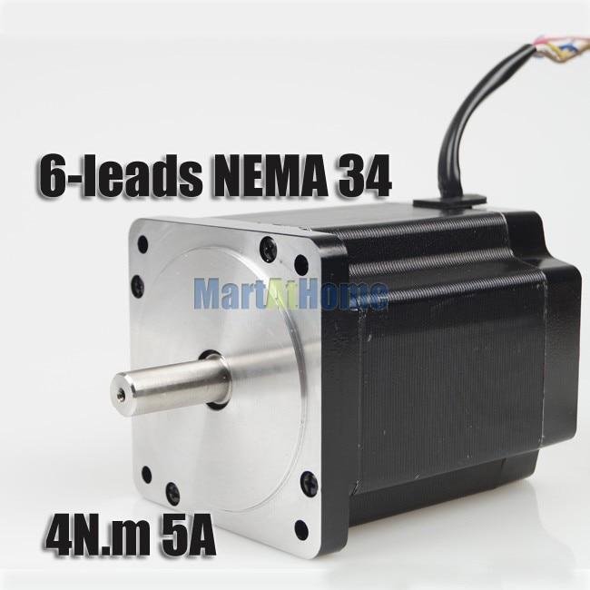 New Leadshine 863S42 CNC 3-Phase NEMA 34 Hybrid Stepper Motor High Torque 4N.m 5A 6-leads #SM543 @SD