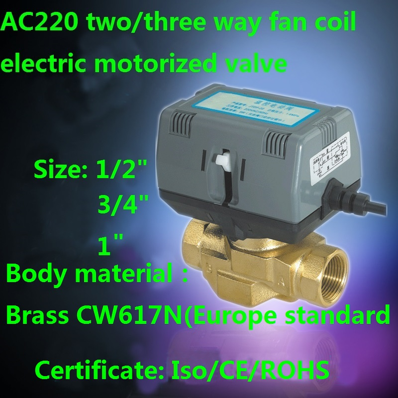 AC220V two/three way fan coil electric motorized valve VC6013/4013-BAB image