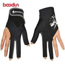 1 шт. Boodun бильярдные перчатки для игры в пул 3 пальца левая перчатки лайкра бильярдная перчатка инструменты для снукера бильярдные аксессуары