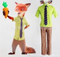 Cute Unicorn Movie Zootopia Cosplay Costume Fox Nick Wilde Halloween Costumes party uniform mens clothing Shirt Pants