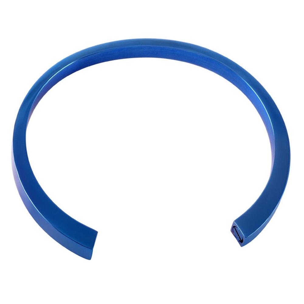 Mjb5015 оптовая продажа Пустой гравировки кремации ювелирные изделия Синий покрытие браслеты