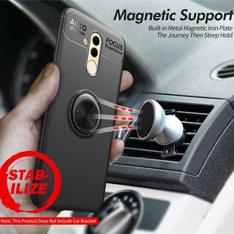 ספיחה מגנטית מתכת TPU מקרה עבור Huawei Mate 10 20 Lite Pro מחזיק טבעת טלפון כיסוי לכבוד P9 10 20 בתוספת Y7 Y9 2019