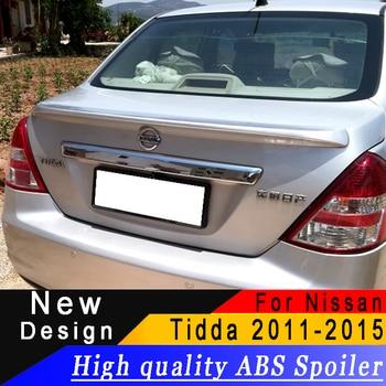 Per Nissan Tiida sedan 2011-2015 spoiler di Alta qualità ABS spoiler Primer, base trucco o qualsiasi colore spoiler posteriore per Nissan tiida