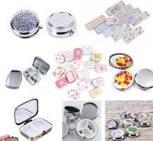 Estojo de alumínio à prova d'água, recipiente para remédios, caixa de medicamentos, cache, cuidados de saúde, 1 peça